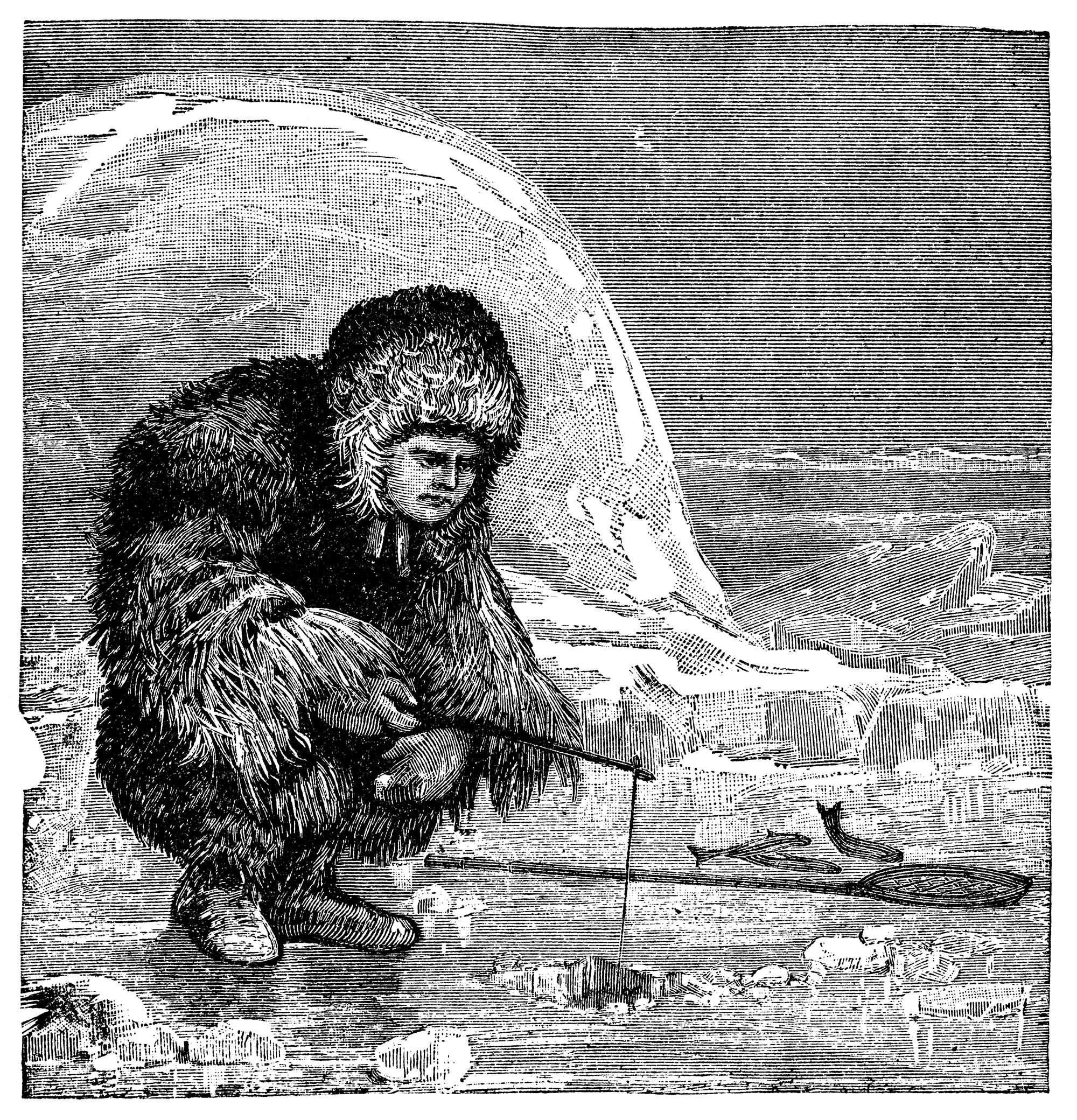 photographed from a book titled 'The World's Wonders as Seen by the Great Tropical and Polar Explorers' published in London 1883. Copyright has expired on this artwork. Digitally restored.
